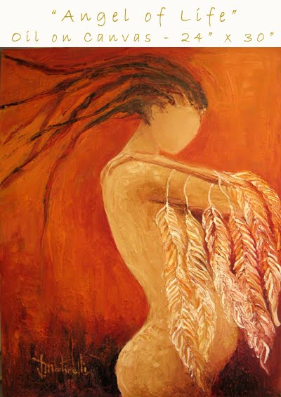 Angel de la Vida - Oleo s/tela
