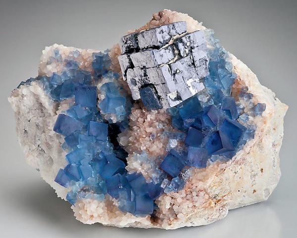 Fluorite Galena Blanchard Mine NewMexico14cm
