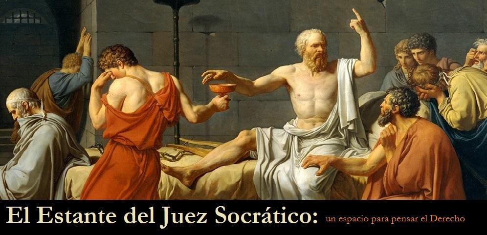 El estante del juez socrático