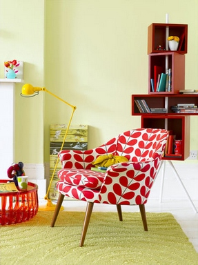 Merveilleux For Today I Suggest You This Interior With A Sexy Bright Armchair:
