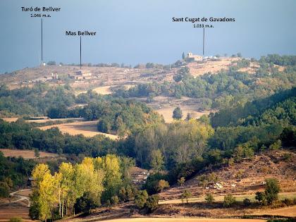 Sant Cugat de Gavadons des del Pla de Querol