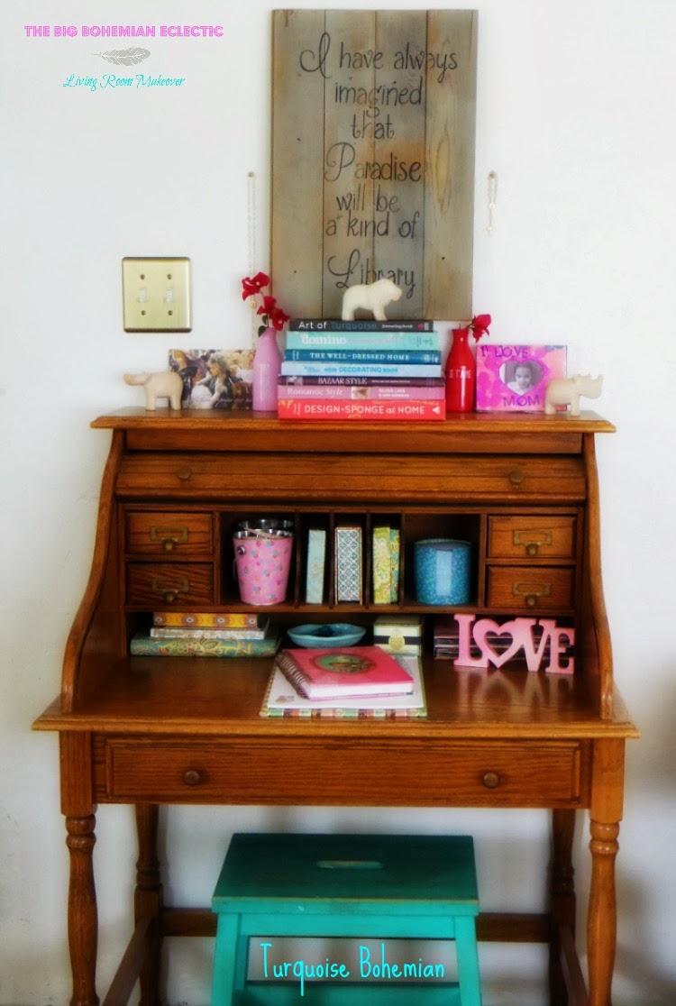 TURQUOISE BOHEMIAN Big Bohemian Eclectic Living Room