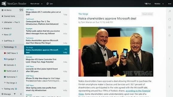 Aplicativo NextGen Reader para Windows 8 - 579x326