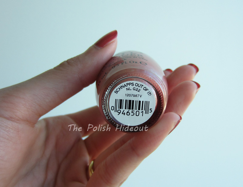 Opi Schnapps Out Of It The Polish Hideout: OP...