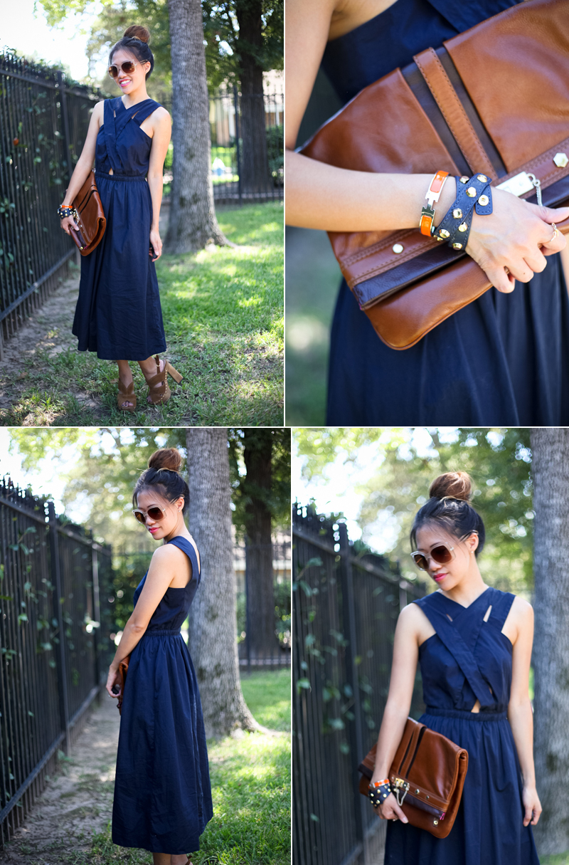 WWT asos dress mbmj clutch