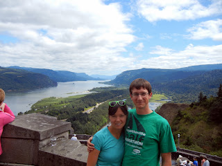 Columbia River Gorge between Oregon and Washington