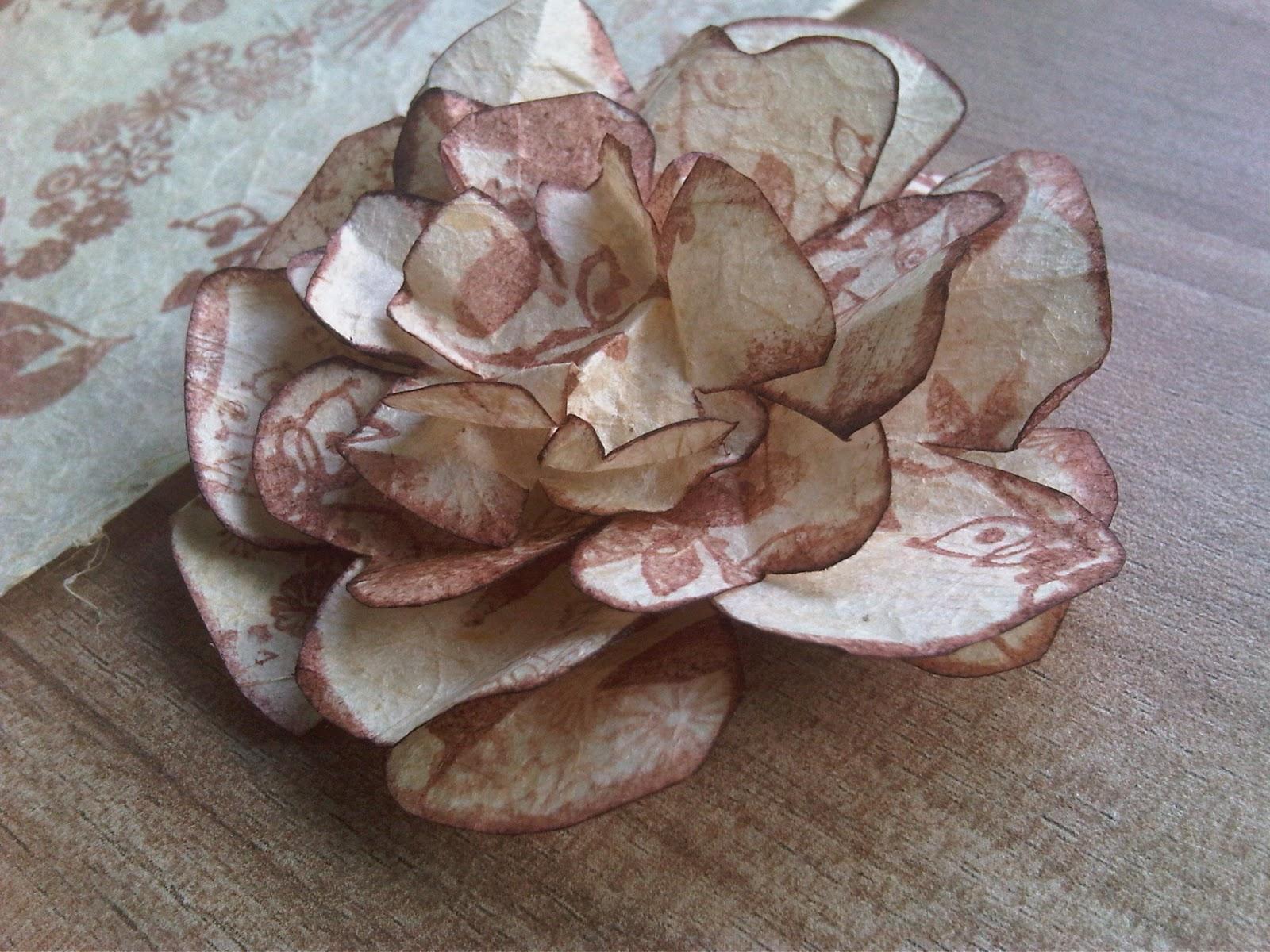 Scrap every moment handmade flower tutorial using for Handmade paper flowers tutorial