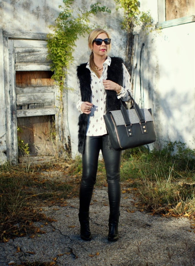 How to wear liquid black leather leggings