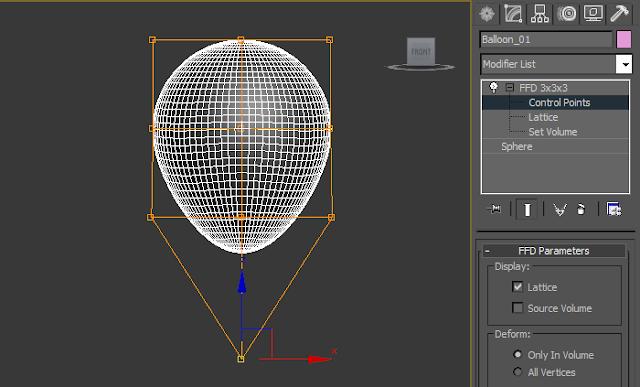 hoc 3d tạo bóng bay | hoc 3d tạo bóng bay trong 3d max | hoc 3d model bóng bay trong 3ds max