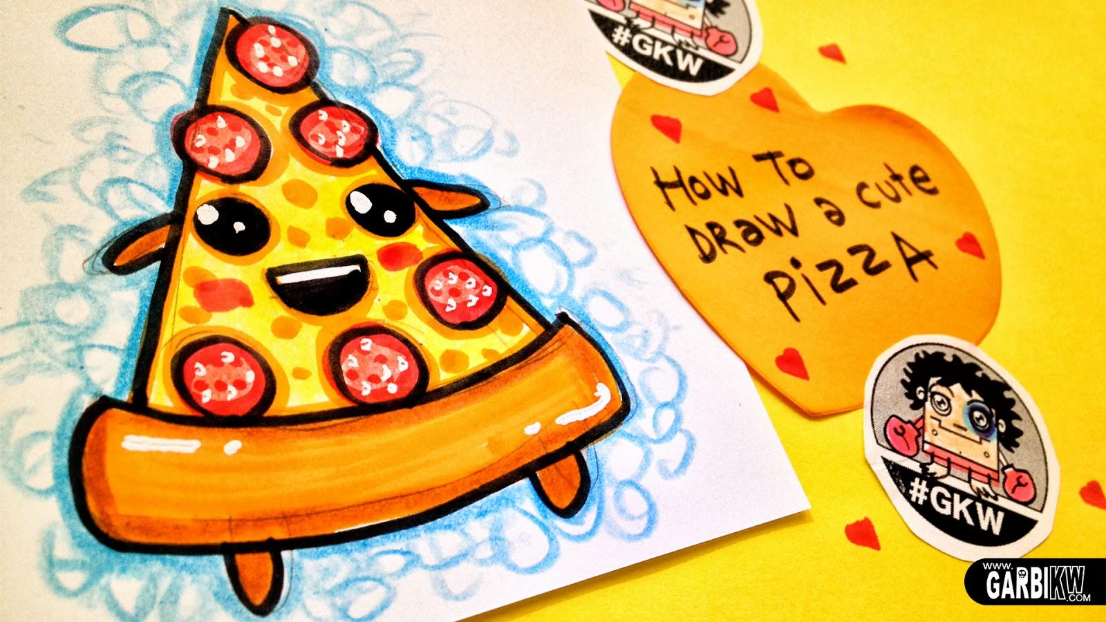 Tutorial Cmo Dibujar Una pizza bonita  Dibujos sencillos y