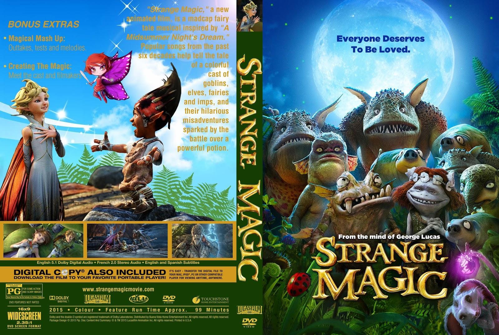 Download Magia Estranha HDRip XviD Dual Áudio freedvdcover strange magic custom cover pips