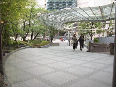 Garden-lined entrance to the Hotel Metropolitan Tokyo Ikebukuro.