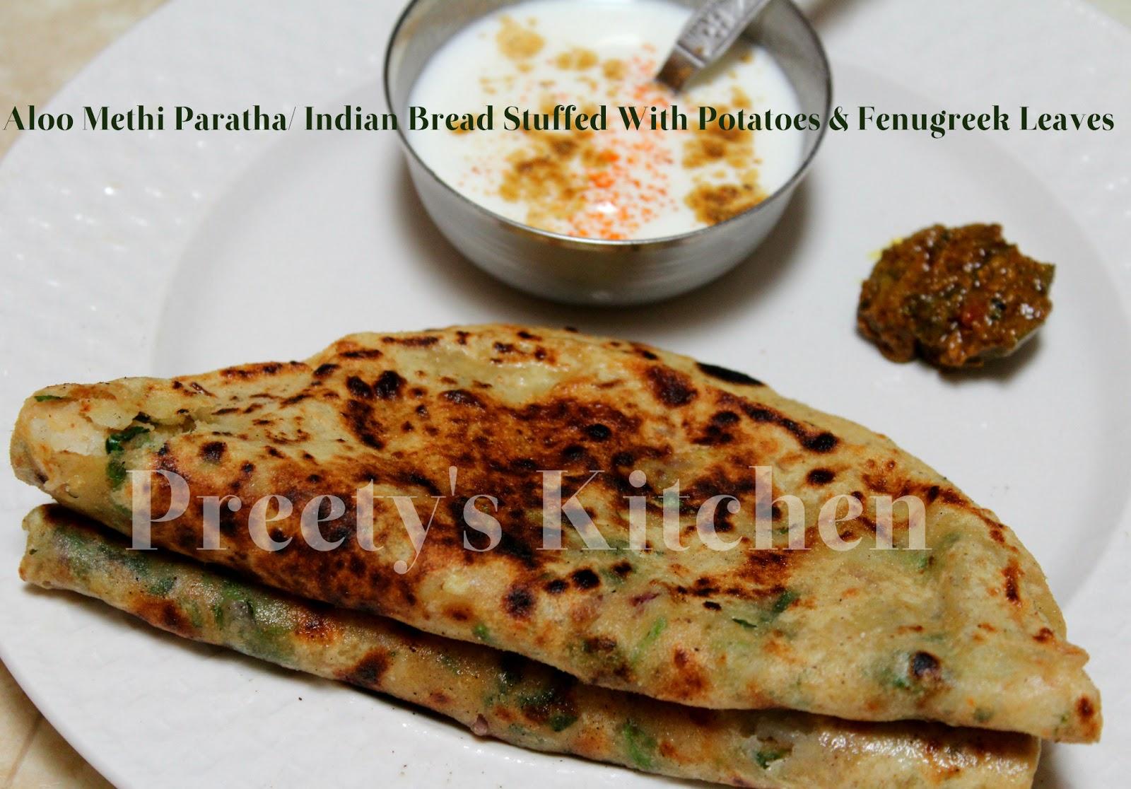 Aloo Methi Paratha (Indian Bread Stuffed With Potatoes & Fenugreek ...