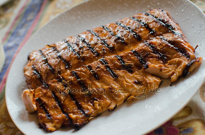 Saumon glac l 39 rable et grill au barbecue doumdoum se r gale - Sauce pour saumon grille barbecue ...