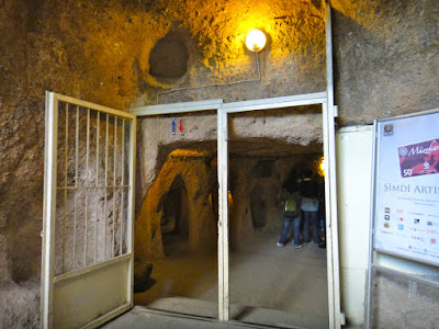 Entrance to Kaymakli Underground City Turkey