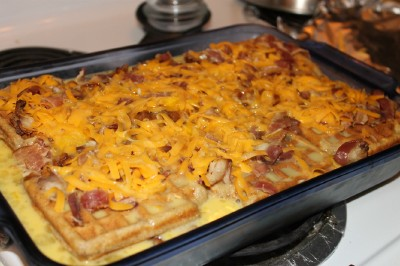 Maple Sausage And Waffle Casserole Recipe — Dishmaps