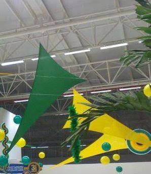 Malhas para decoração da Copa