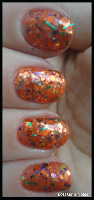 lynnderella cauldron drippings glitter nail polish swatches