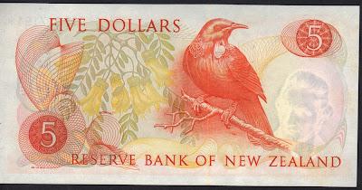 Nuova Zelanda 5 dollars 1977 P# 165d