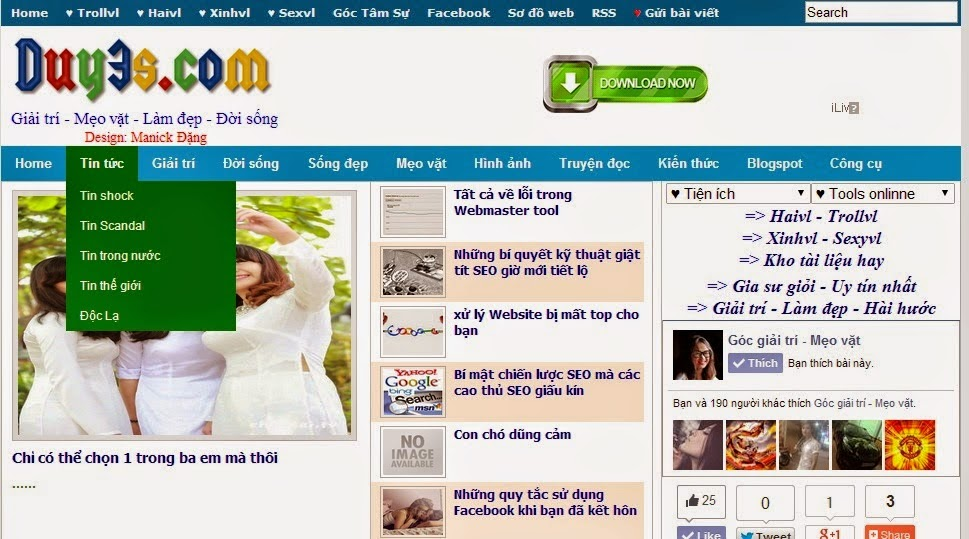 Share Theme Blogspot tin tức đẹp chuẩn Seo - Duy3s.com