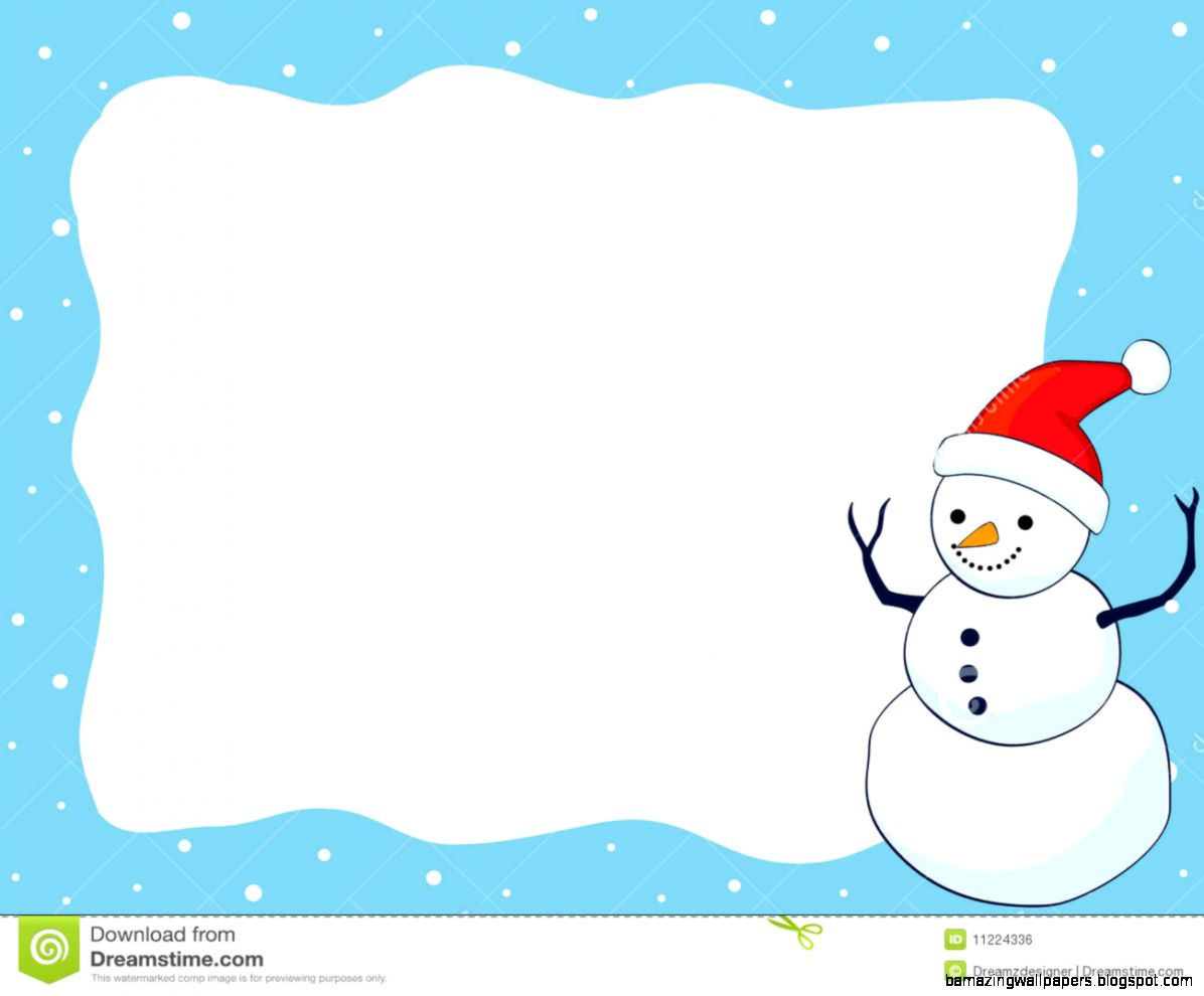 Snowman Border  Frame Royalty Free Stock Photo   Image 17150555