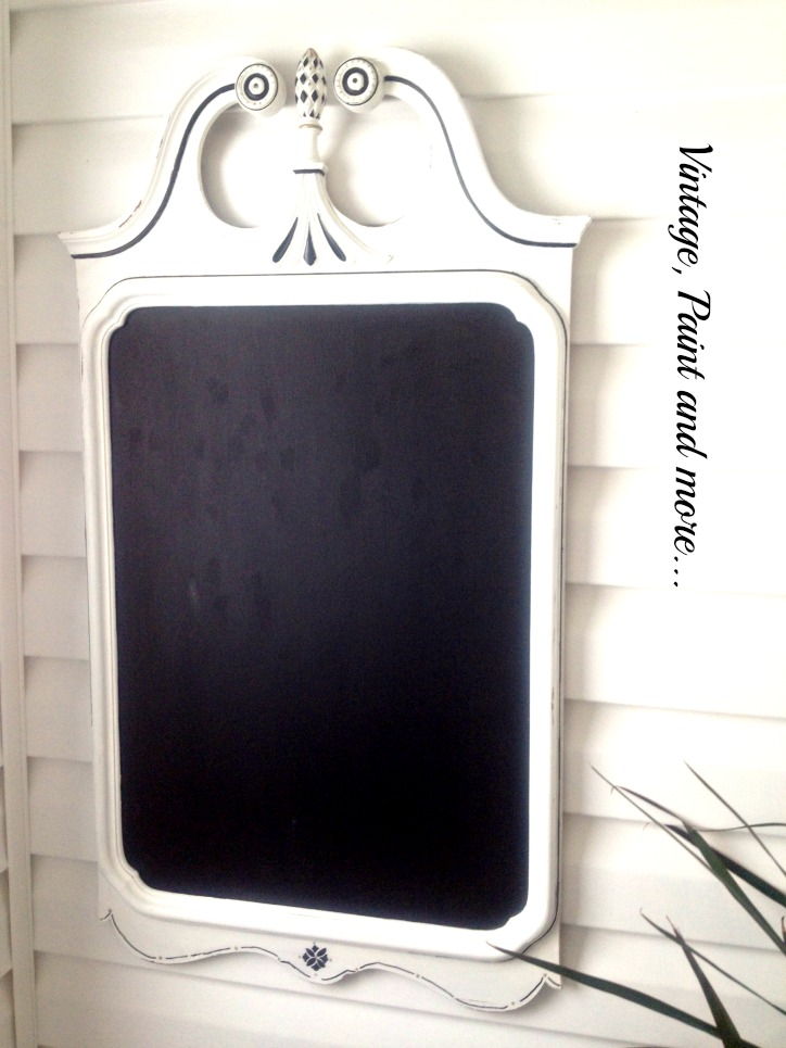 Vintage, Paint and more... old mirror transformed with chalk paint