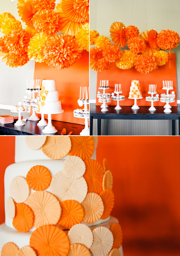 Juneberry lane color crazy party in orange - Yellow and orange wedding decorations ...