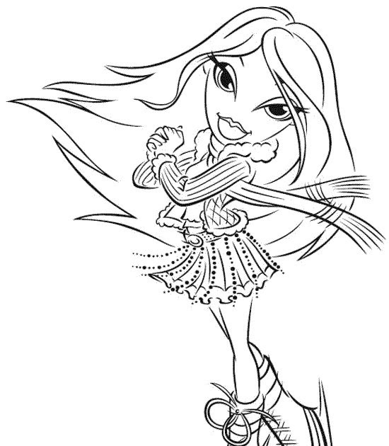 bratz the group coloring pages - photo#36