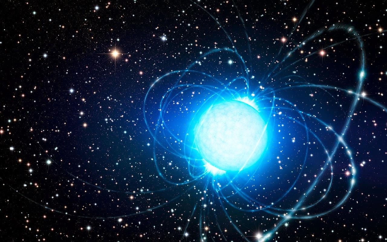 Resultado de imagen de Un magnétar que emite rayos gamma