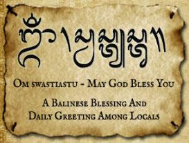 Balinese greeting, basa Bali, Bahasa Bali, Bahasa Indonesia