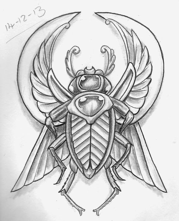 Tattoo sketch a day for Egyptian tattoo flash