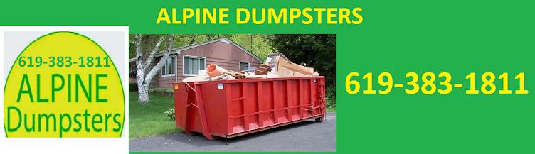 Alpine Dumpsters 619-383-1811