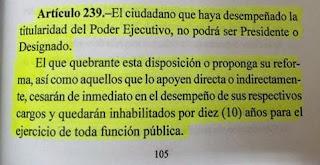 Articulo 239 Constitucion Honduras