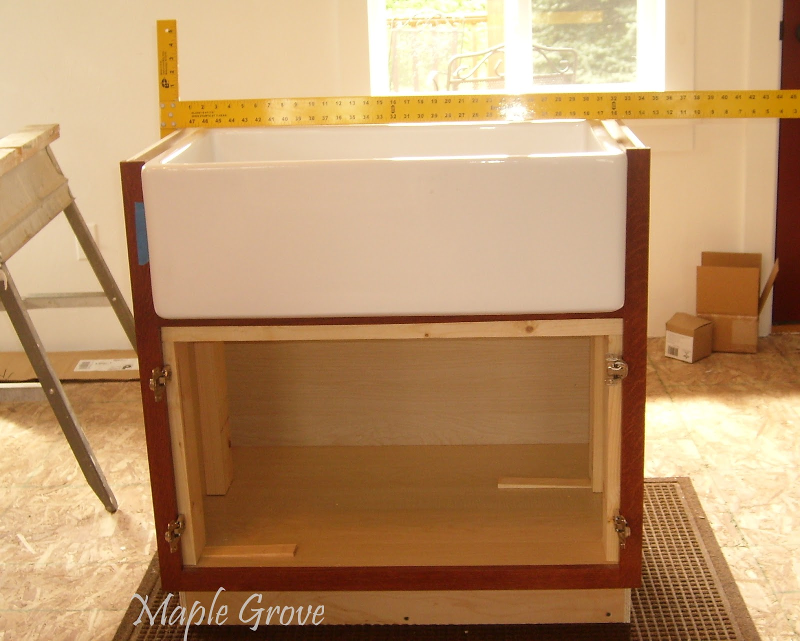 Maple Grove: How to Build a Support Structure for a Farm House Sink