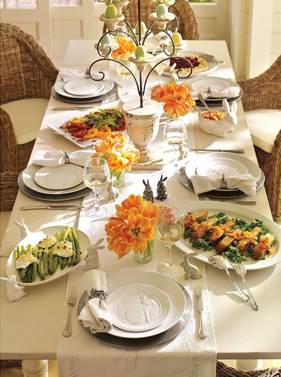 Easter table decoration for church photograph lovely table for Easter dinner table decorating ideas