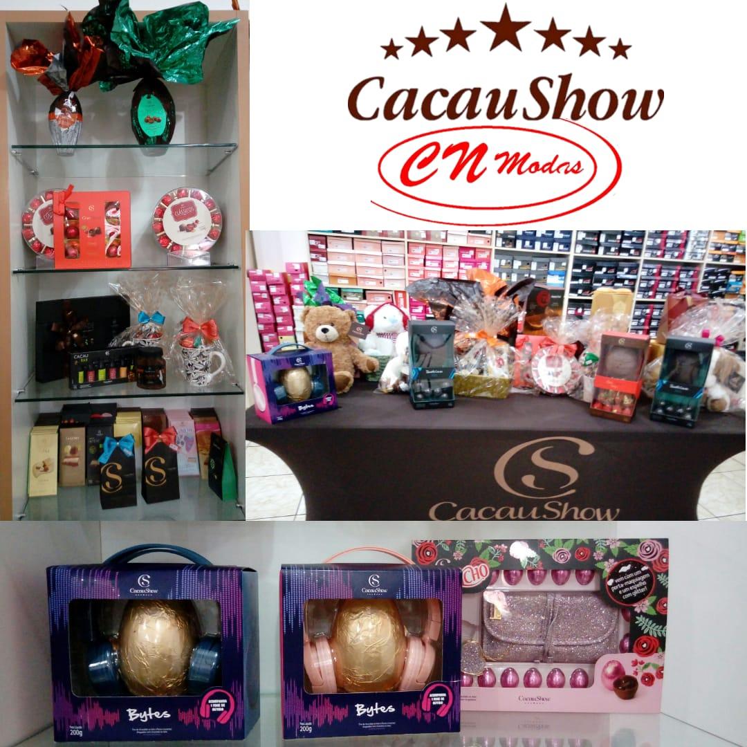 Chocolates da Cacau Show na Loja CN Modas