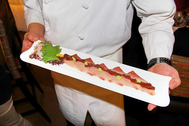 EDO-Ko Japanese Cuisine Restaurant in Toronto, barry Chaim, Executive Chef Ryo Ozawa, award, winning, winterlicious, sushi, seiyo-ryori, review, food, the purple scarf, melanie.ps, ontario, canada, goma hamachi