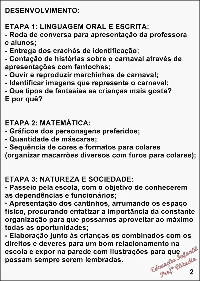 Extremamente Educação Infantil: PROJETO CARNAVAL NA EDUCAÇÃO INFANTIL FW74