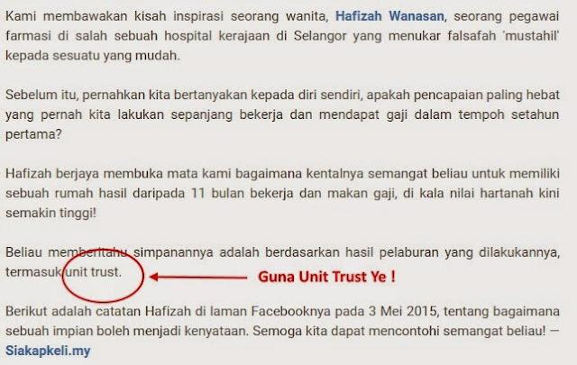 Kisah Hafizah yang dapat beli Rumah idamannya di Lembah Klang dalam tempoh kurang setahun dari mula bekerja.