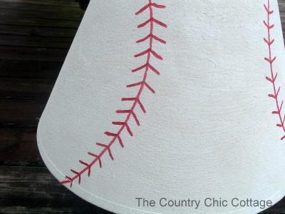 Pottery Barn Knock Off - Baseball Lamp and Shade Tutorial - The ...