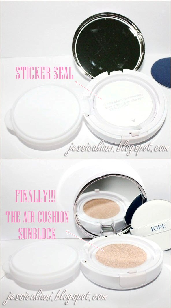 IOPE Air Cushion Sunblock EX inside