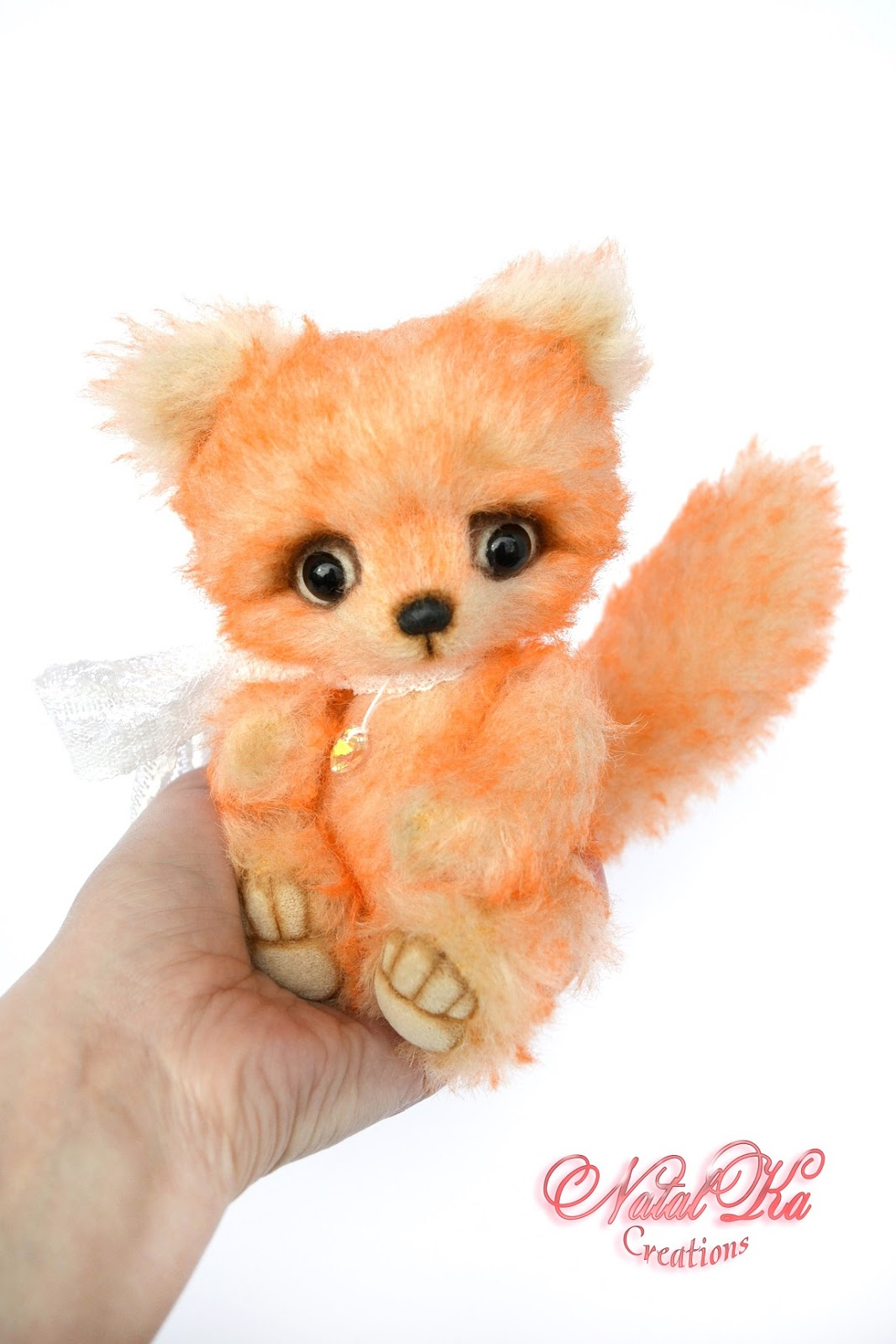 Авторский лисенок тедди, лиса тедди, artist teddy fox, jointed fox, handmade fox, ooak, teddy fox, Künstler Fuchs, Künstlerteddy, Unikat, handgemacht von NatalKa Creations