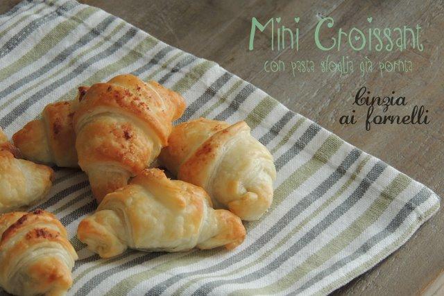 mini croissant facili e veloci