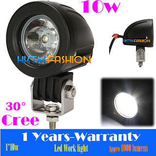 10W 900lm Cree LED Work Light Spot beam Fog Lamp Car JEEP Motorcycle ATV Truck