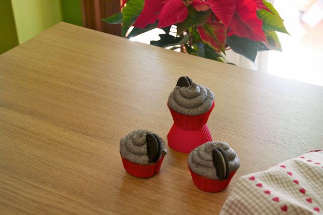 Cupcakes de vainilla i oreo