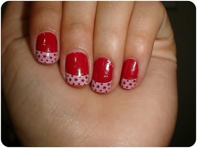 unha decorada francesinha vermelha