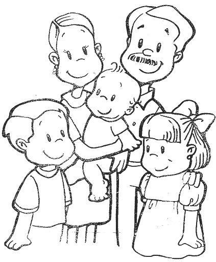 DIBUJOS PARA COLOREAR PINTAR IMAGENES: DIBUJOS DE LA FAMILIA PARA ...
