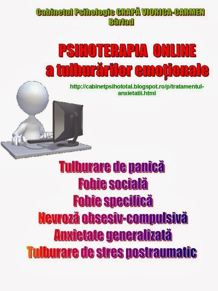 Psihoterapia online a ANXIETATII  in clinica virtuala chiar la tine acasa