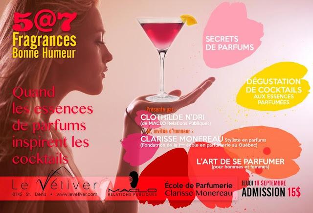 Invitation au 5 @ 7 Fragrances Bonne Humeur