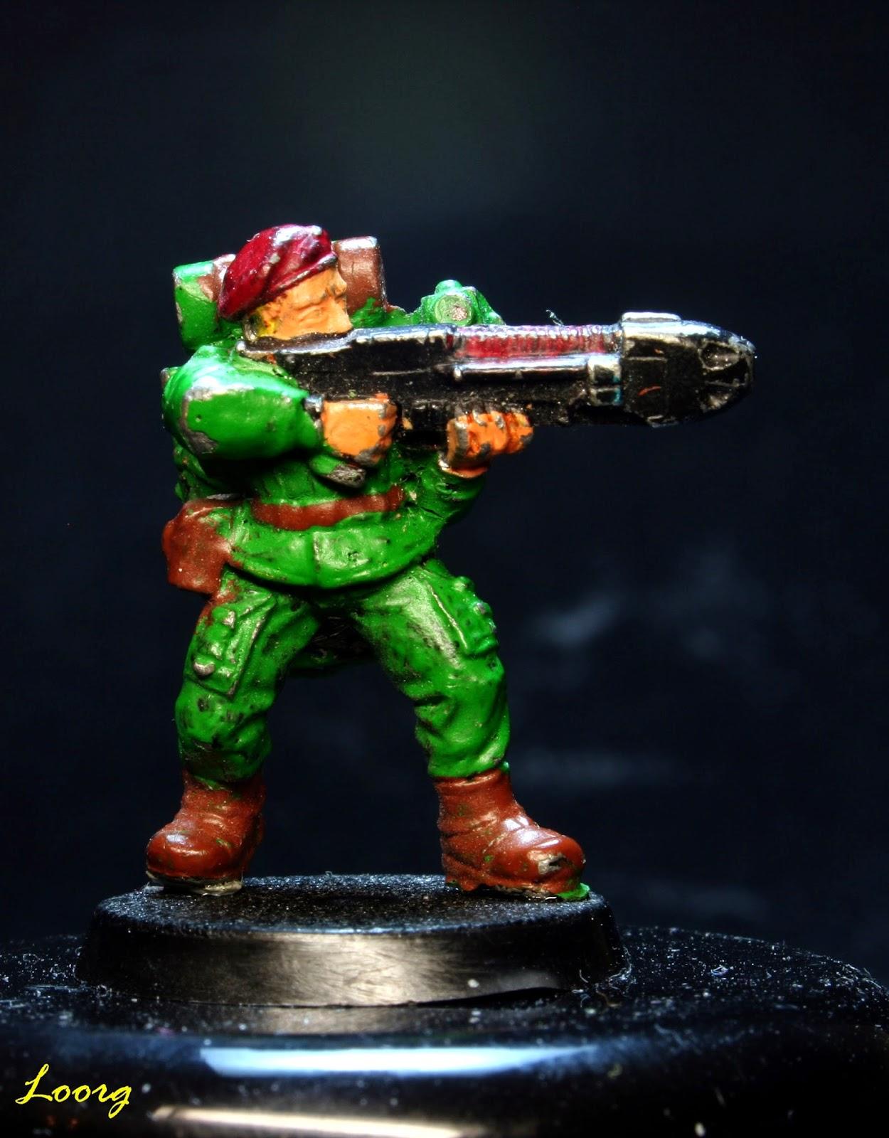 Comando de choque de la Guardia Imperial con Rifle de plasma